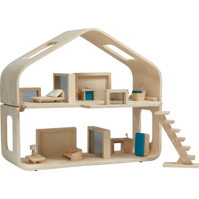 Wooden Contemporary Dollhouse