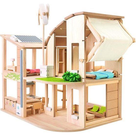 Green Dollhouse w/Furniture - Dollhouses - 1