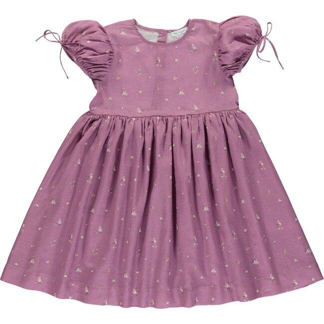 Adele Dress Purple Flowers