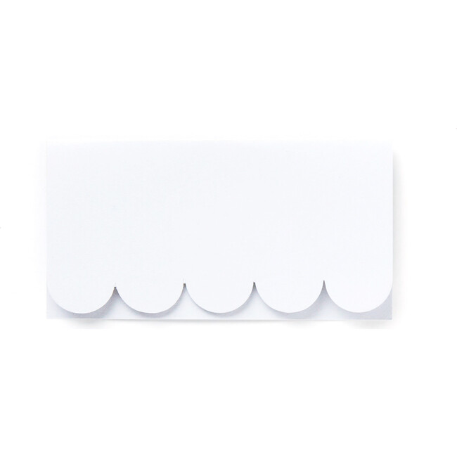 Scallop Place Cards, White