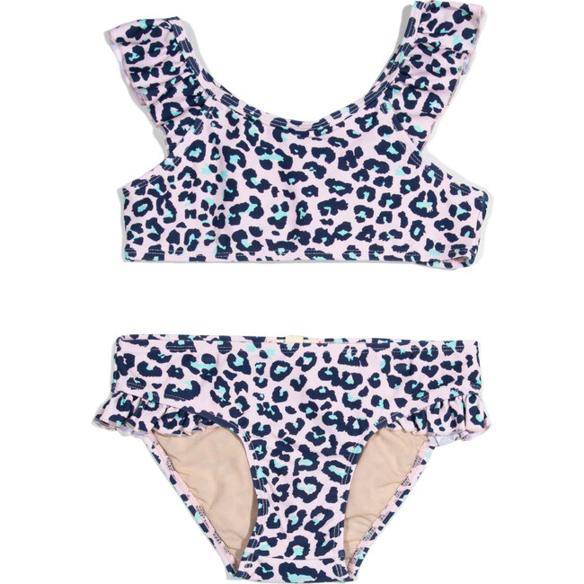 Jane Two Piece, Pink Leopard Print