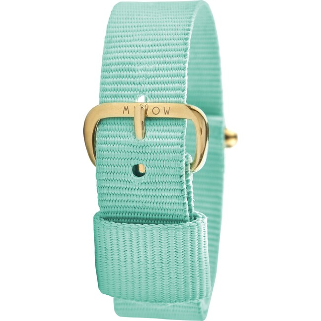 Watch Band, Mint Green and Gold