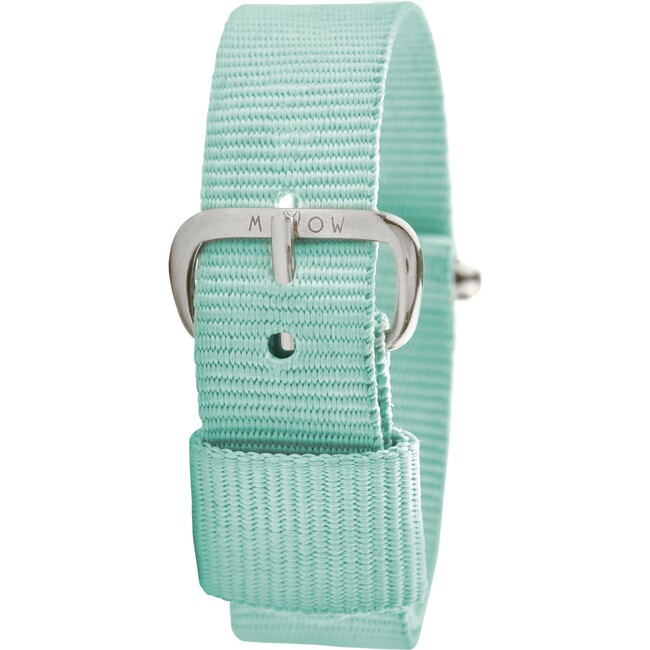 Watch Band, Mint Green and Silver