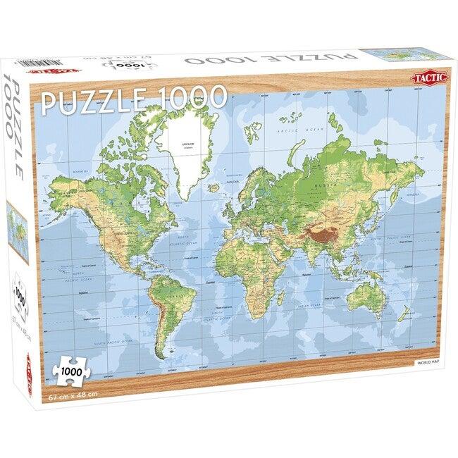 World Map 1000-Piece Puzzle