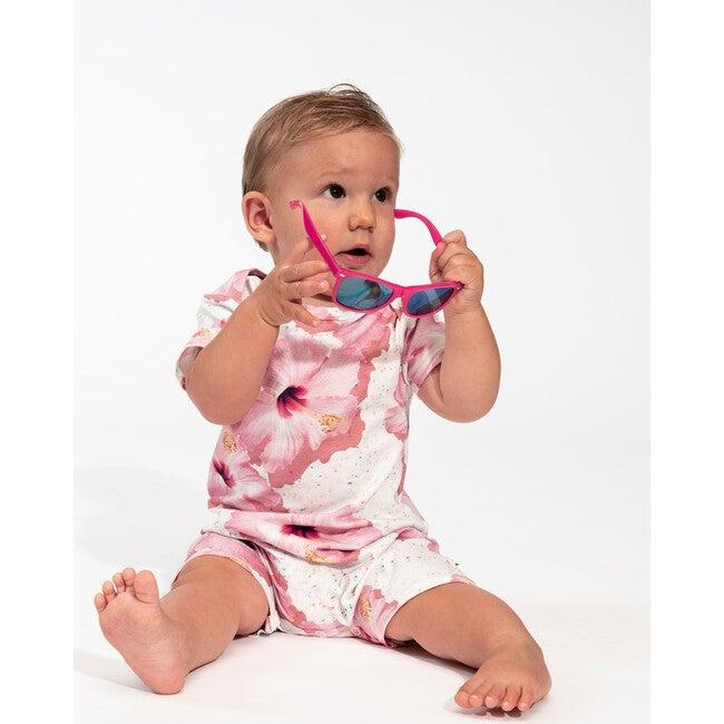 *Exclusive* Pink Hawaii Playsuit