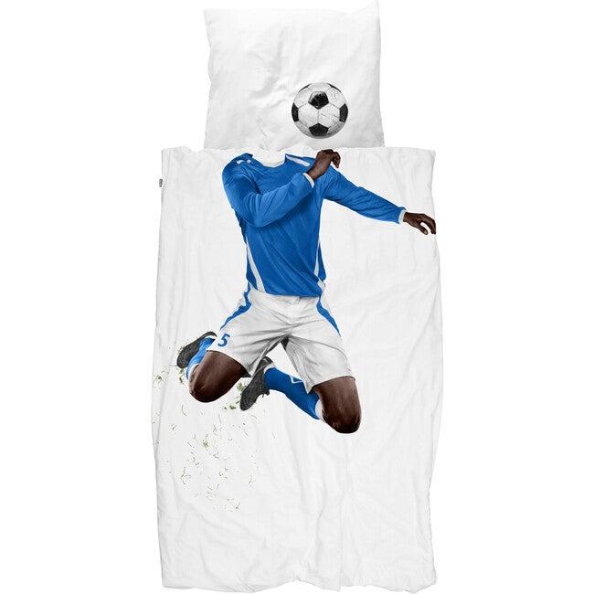 *Exclusive* Soccer Champ Duvet Set, Dark Skin Tone