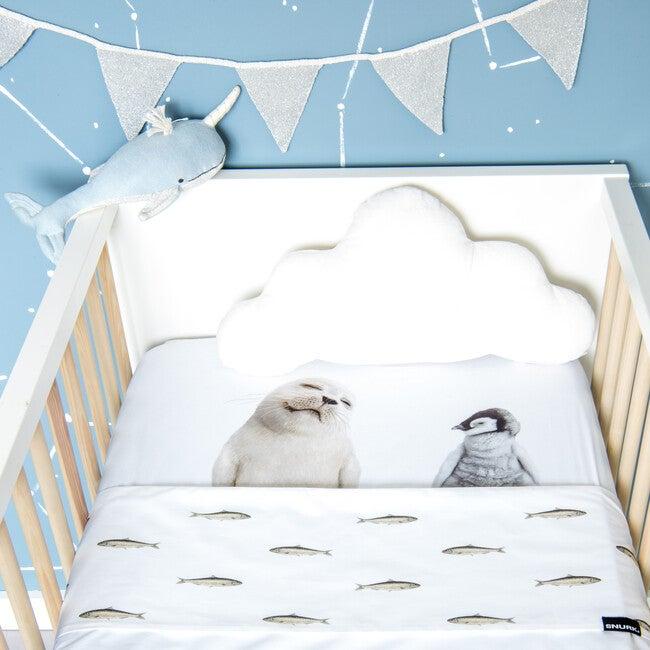 *Exclusive* Arctic Friends Crib Sheet, White