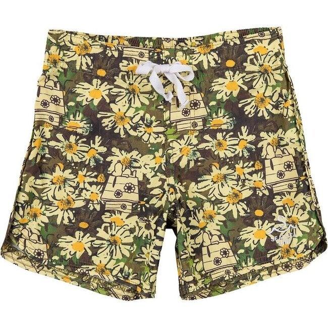 Boys Seaesta Surf x Peanuts® Retro Floral Boardshorts