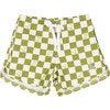 Seaesta Surf x Peanuts® Checkerboard Boardshorts, Moss - Swim Trunks - 1 - thumbnail