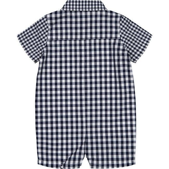Baby Shirtall, Navy Gingham