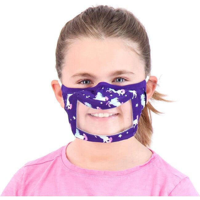 Kids 3-Pack Peek-Through Masks, Purple Unicorn