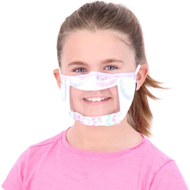 Kids 3-Pack Peek-Through Masks, Aqua Tie Dye