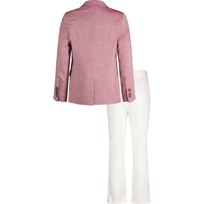 Oxford Blazer And White Pant Set