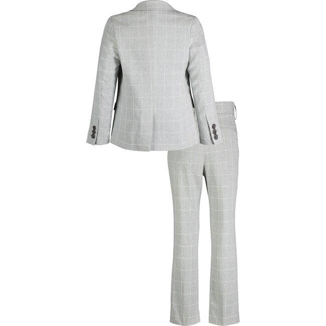 Two-Piece Suit Set, Grey Windowpane