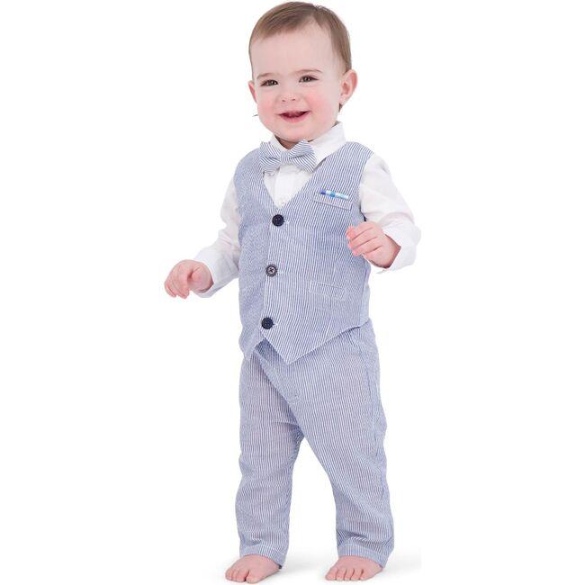 Baby Vest Suit Set, Seersucker