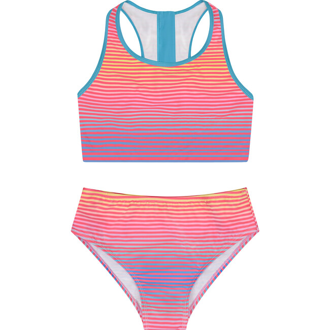 Girls (7-14 Years) 2-Piece Swimsuit, Light Blue