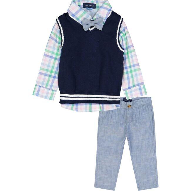 Sweater Vest Set, Navy - Mixed Apparel Set - 1