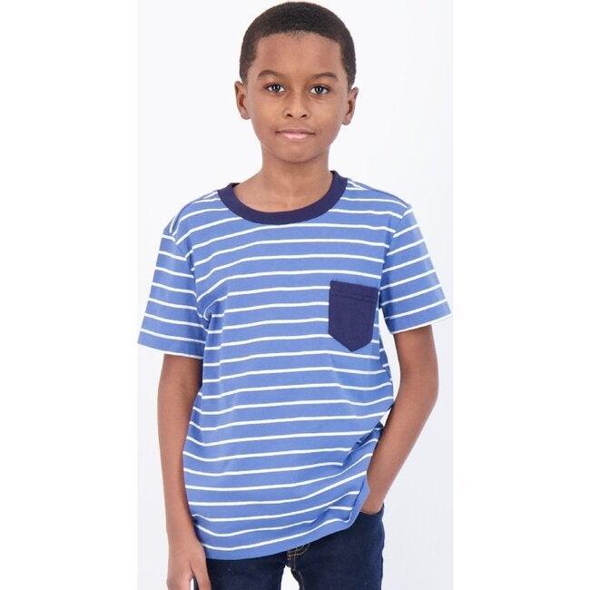 Striped T-Shirt, Blue