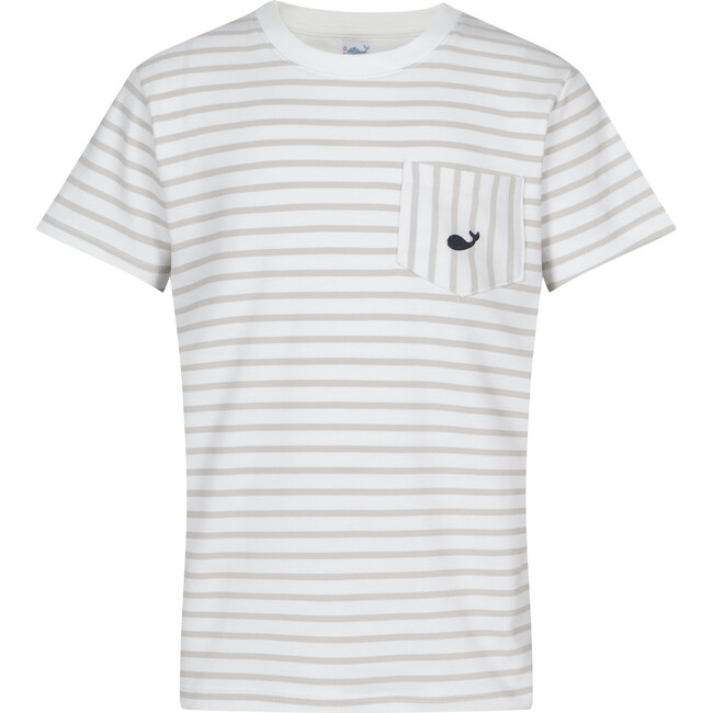 Pima T-Shirt, Gray Stripes