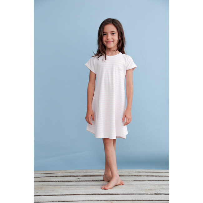 Pima Dress, Pink Stripes