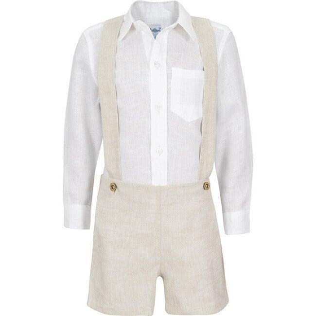 Marcel Baby Boy Set, White/Oatmeal