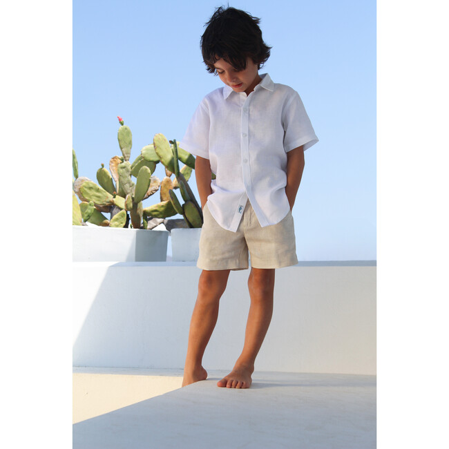 Mathieu Boy Shirt, White
