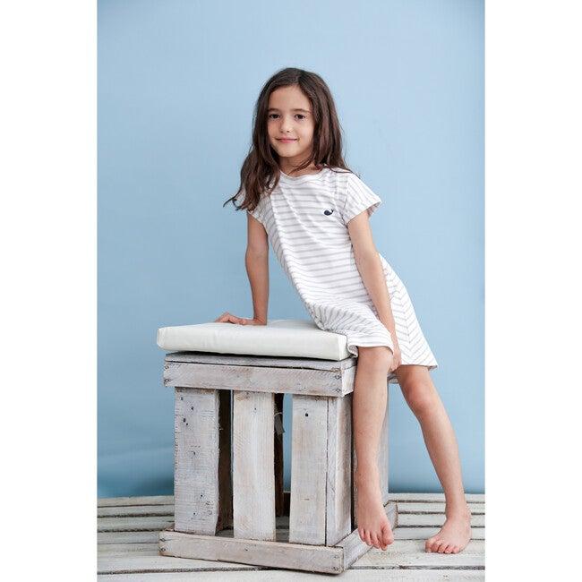 Pima Dress, Gray Stripes