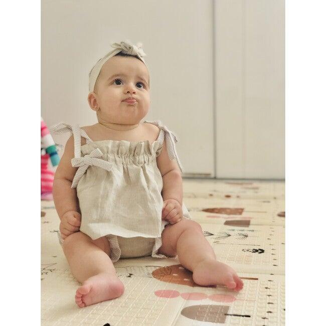 Chloe Set, Oatmeal Stripes