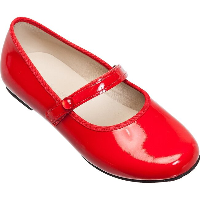 Princess Flat Patent, Red