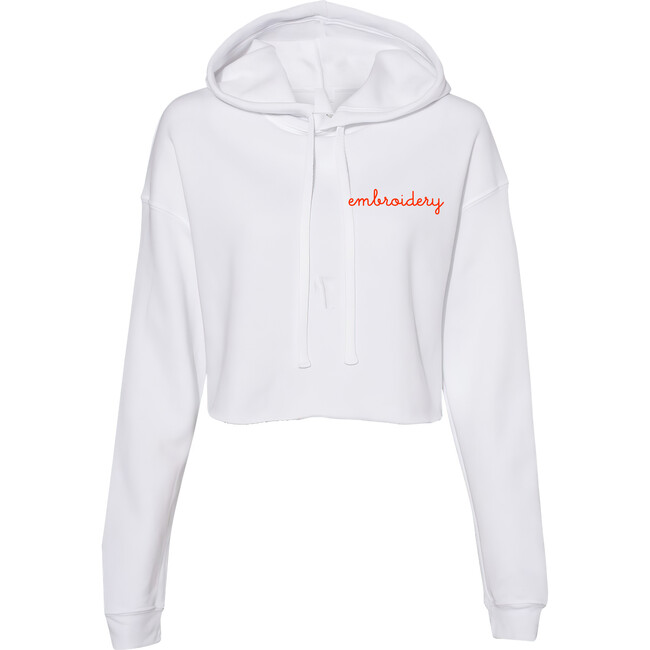 Adult Cropped Hoodie, White