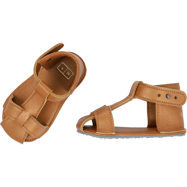T-Strap Sandals, Copper