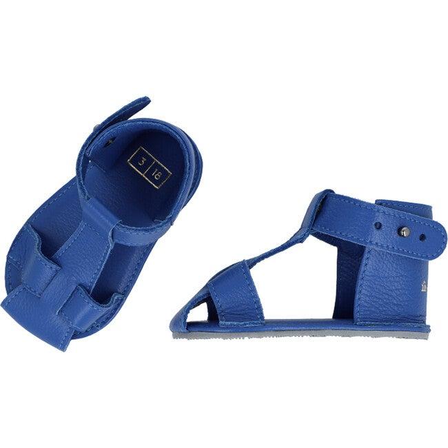T-Strap Sandals, Sapphire