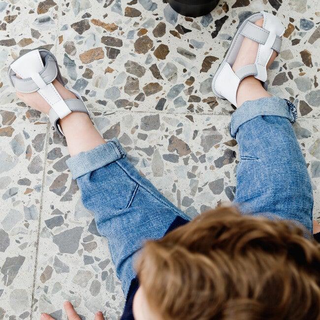 T-Strap Sandals, Colorblock