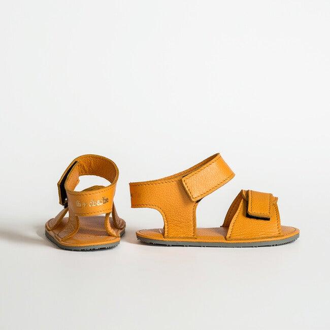 Sporty Velcro Strap Sandals, Yellow