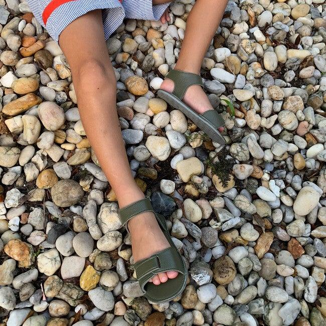 Sporty Velcro Strap Sandals, Green