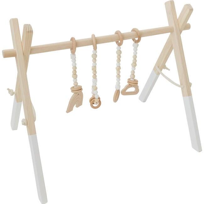 White Wood Gym with White Toys