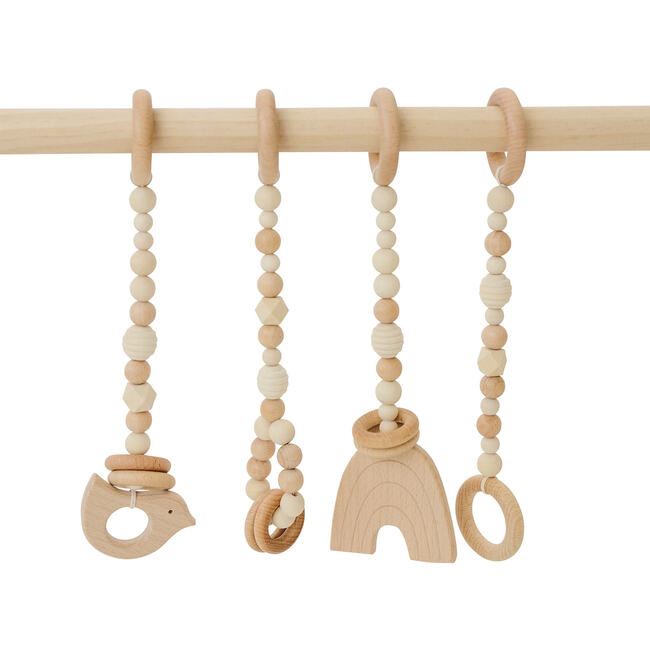 Natural Wood Gym with Toys