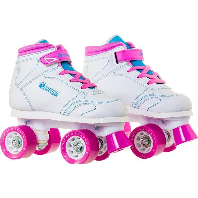 Sidewalk Skate, White/Pink