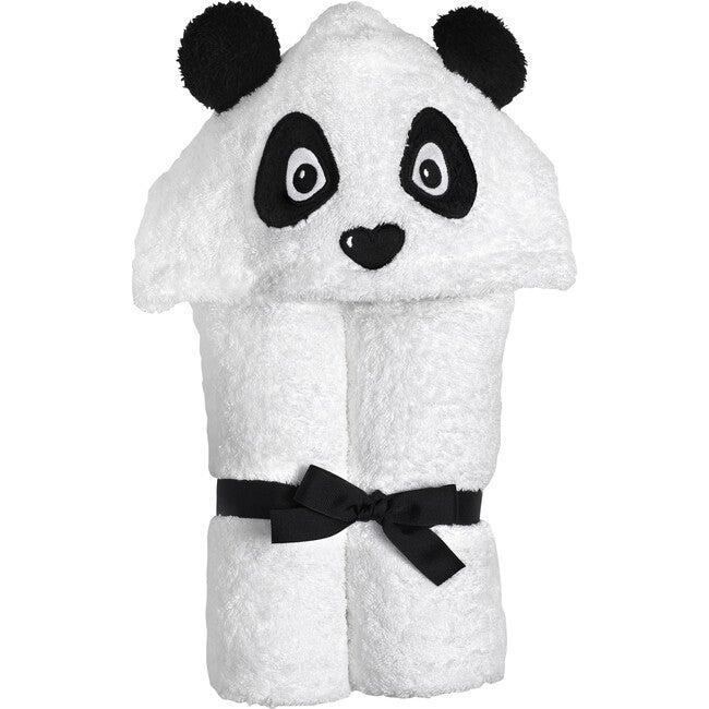 Panda Hooded Towel, White