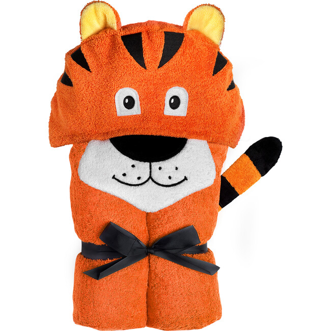 Tiger Hooded Towel, Orange