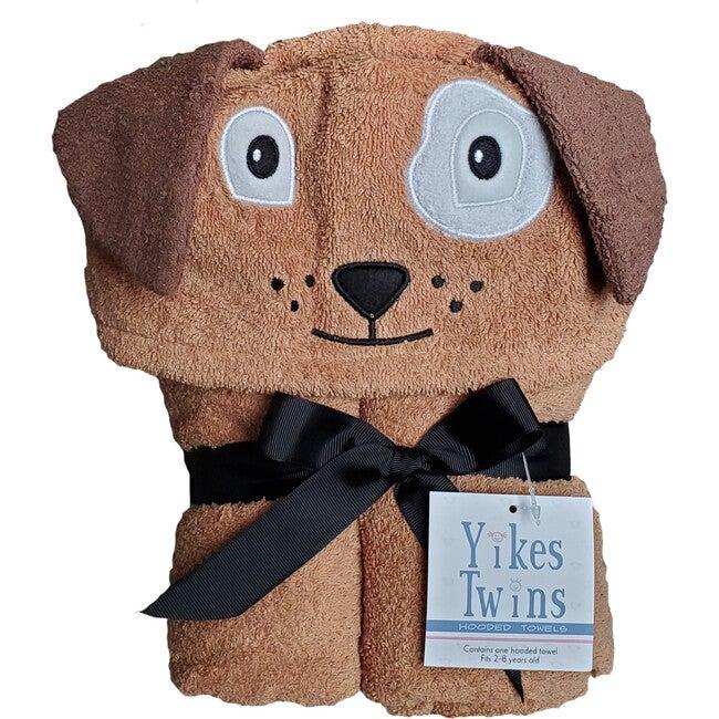 Dog Hooded Towel, Brown