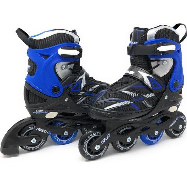 Adjustable Inline Skates, Blue/Black - Sports Gear - 1