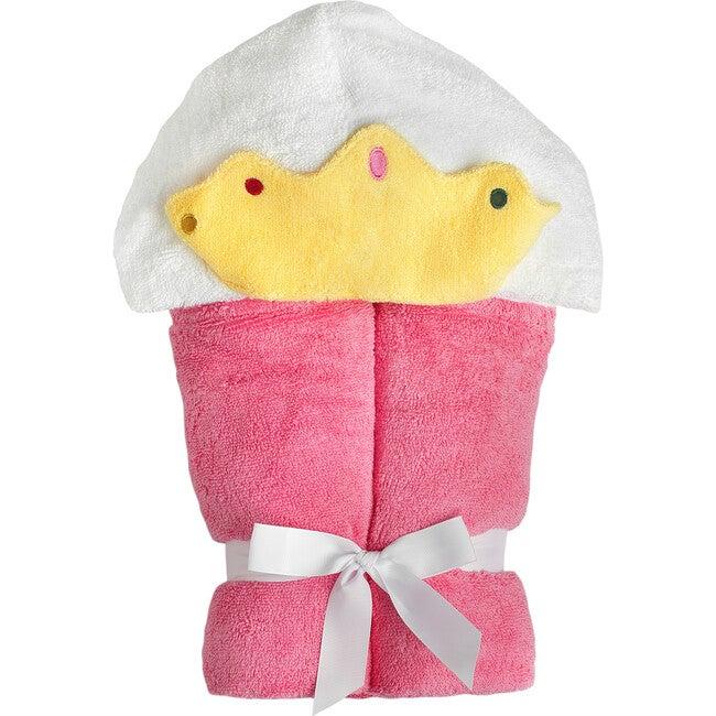 Princess Hooded Towel, Pink - Towels - 1
