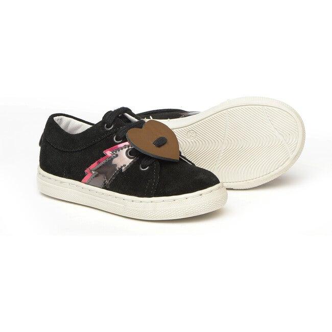 Star Detail Sneakers, Black