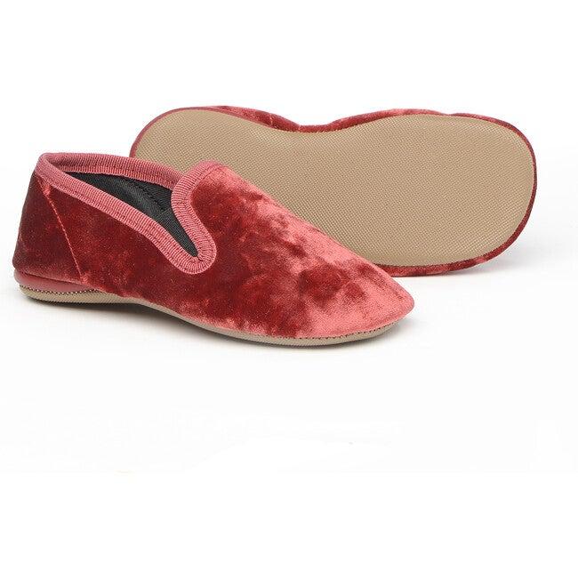 Velvet Slippers, Red