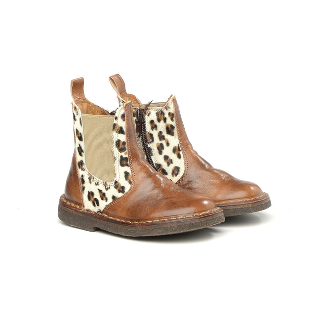 Side Zip Ankle Boots, Brown