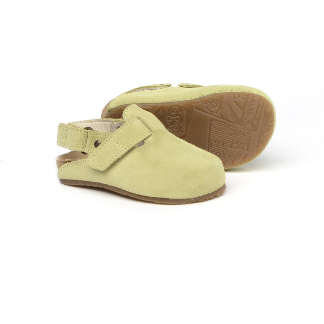 Sabot In Suede Leather, Green