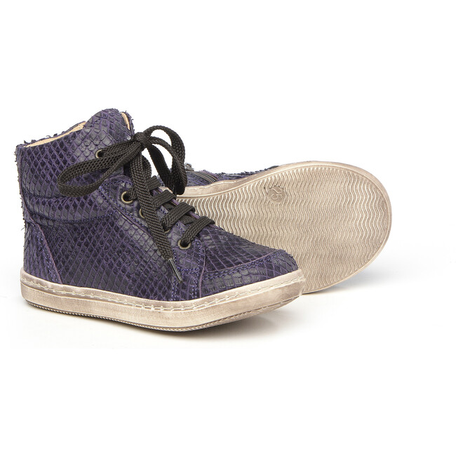 Lace-Up Sneakers, Purple