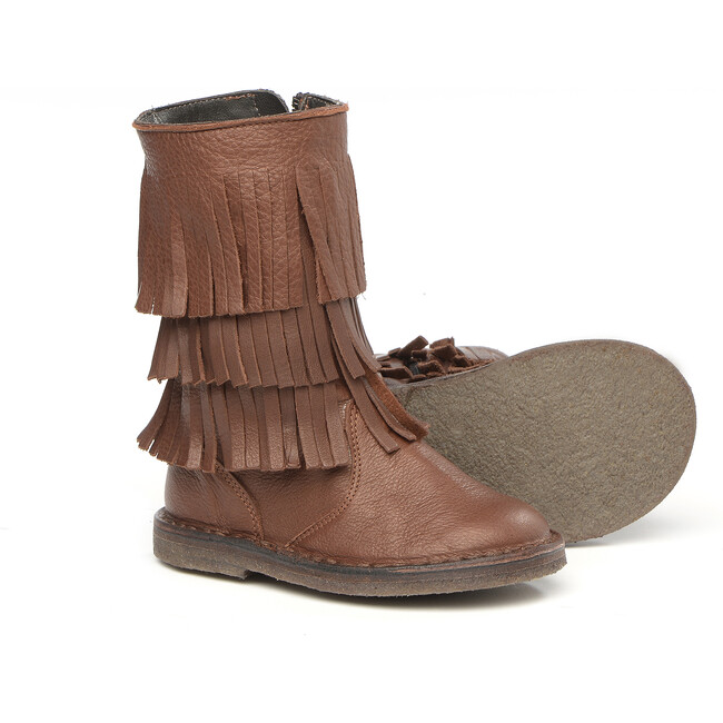 Fringes Boots, Brown