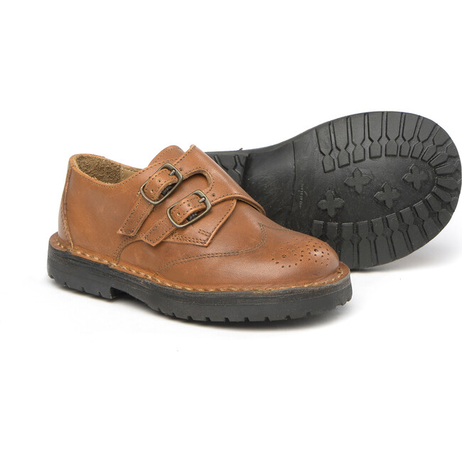 Buckled Shoes In Brown Leather